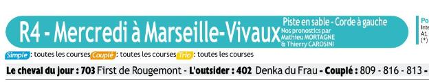 Autres courses PMU du Mercredi 29 janvier 2020 0779