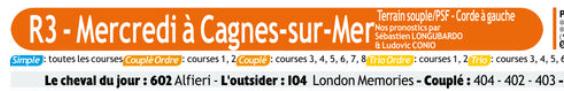 Autres courses PMU du Mercredi 05 février 2020 0799