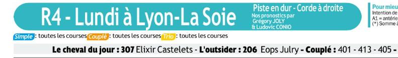 Autres courses PMU du lundi 10 Février 2020 0816