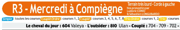 Autres courses PMU du Mercredi 04 mars 2020 0884