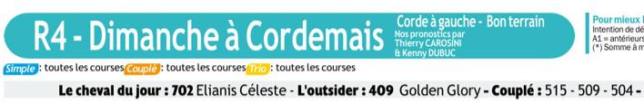 Autres courses PMU du Dimanches 15 mars 2020 0909
