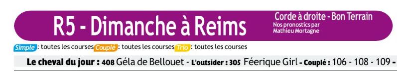 Autres courses PMU du Dimanches 15 mars 2020 0910