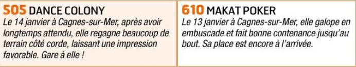 Autres courses PMU du lundi 27 janvier 2020 1650