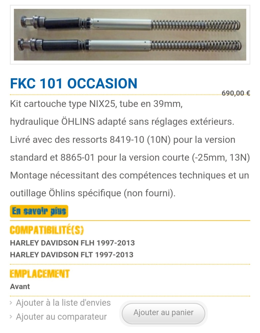 Amortisseur ohlins electra classic 2003 / limited 2014 - Page 3 Img_2251