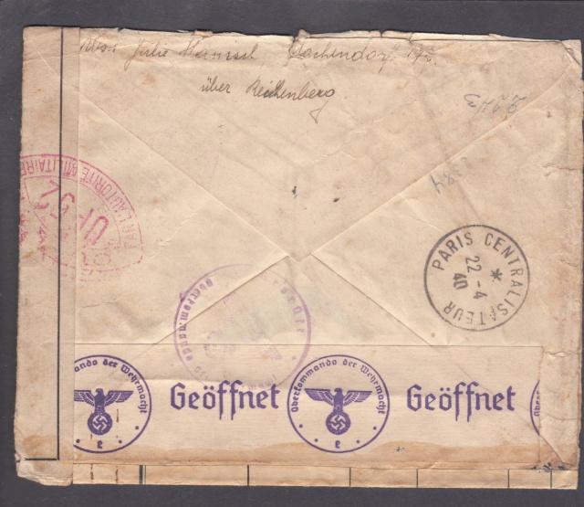"""Etiquette-adresse """"Franc de Port""""  CICR Agence centrale des PG Palais Electoral Genève.  _1d_0011"""