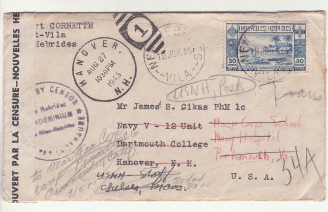 Nouvelles Hébrides - Timbres utilisés dans les deux bureaux postaux. _2_00014