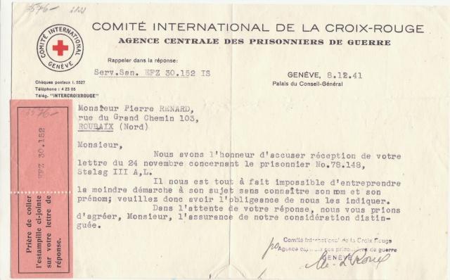Etiquette du CICR de Genève. _a3_10