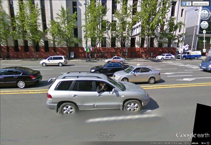 La Google Car filmée à Séoul Corée du Sud Google10