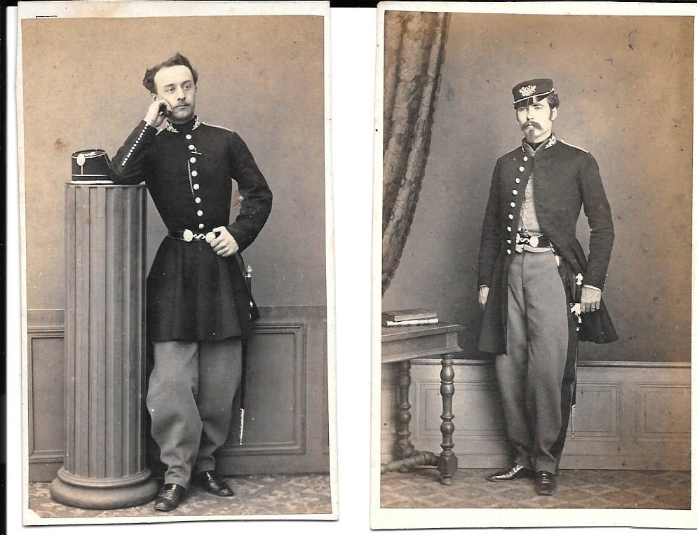 Identification de soldat et officier second empire sur cdv Ecole_10