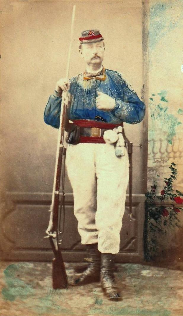 Rare photo colorisée d'un moblot 1870 Mobile11