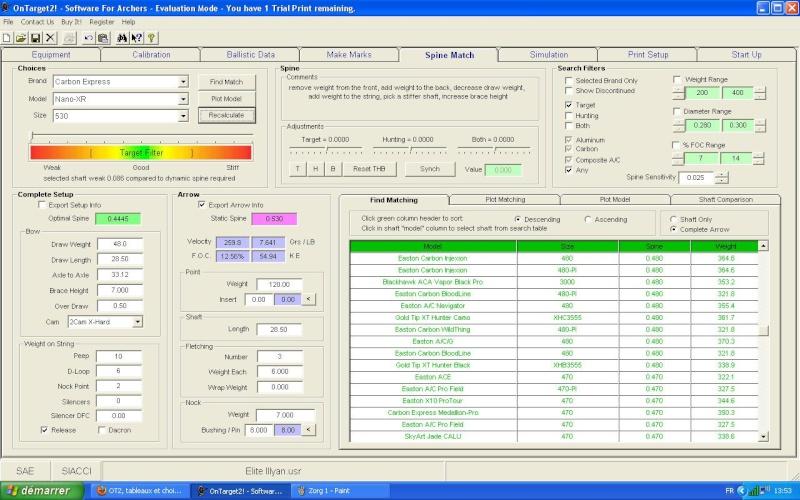 OT2, tableaux et choix de spines Zorg_210