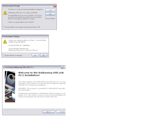Probleme de programmation XERUN 150A avec la Program BOX Messag10