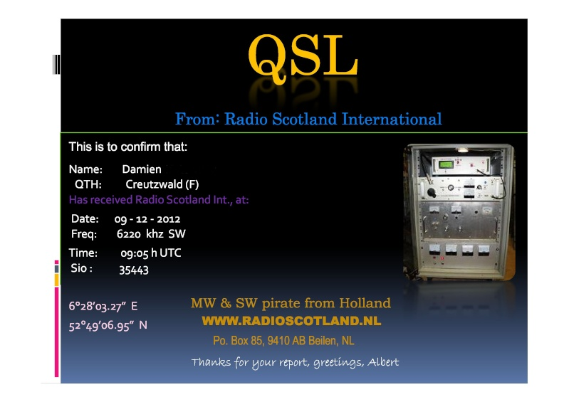 Radio Scotland International Radios10