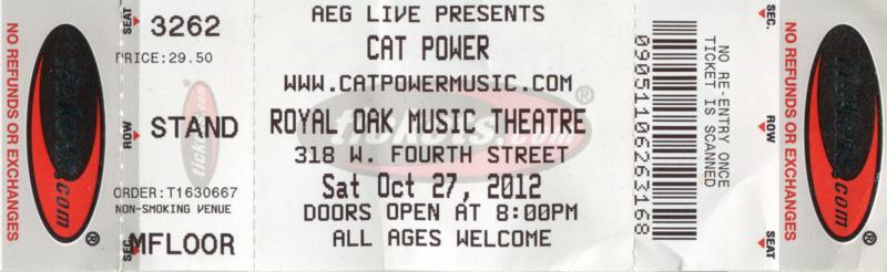 10/27/12 - Detroit, MI, Royal Oak Music Theater Img18611