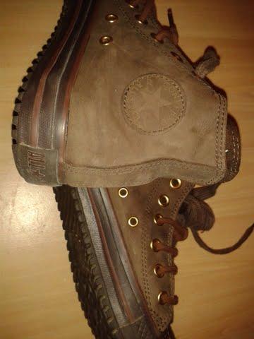 Chaussures CONVERSE CUIR MARRON 39 710