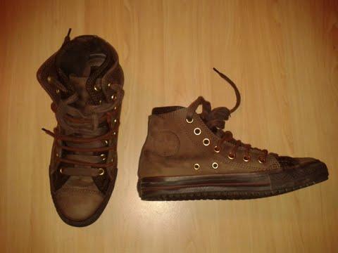 Chaussures CONVERSE CUIR MARRON 39 910