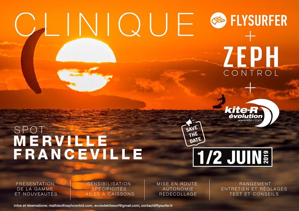"""""""Clinique"""" Flysurfer + Zeph Control à Franceville Merville 59644610"""