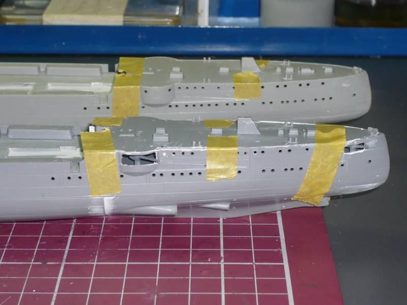Bau der SMS Emden und Dresden P1050010