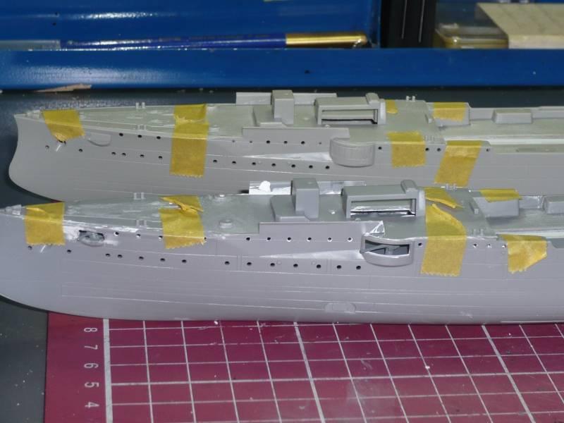 Bau der SMS Emden und Dresden P1050011