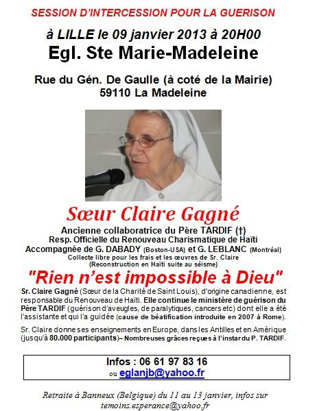 Soeur Claire Gagné, l'assistante du Père Tardif, sera à Lille le 9 janvier prochain ! Soeur_10