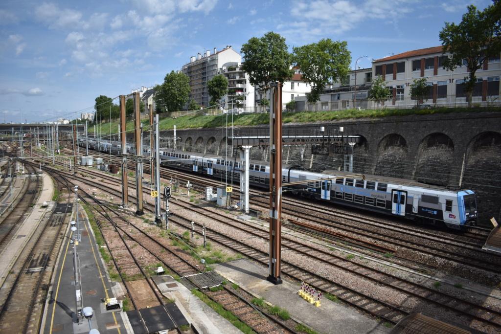Le technicentre S.E Européen vu de la passerelle Valmy. Juille35