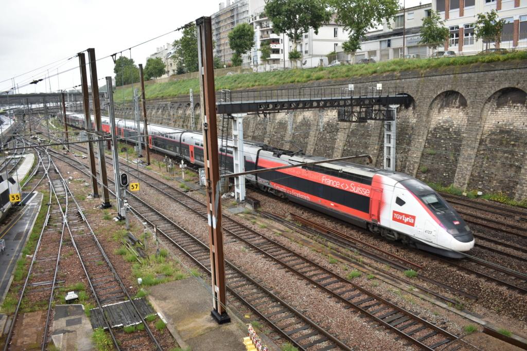 Le technicentre S.E Européen vu de la passerelle Valmy. Juille54