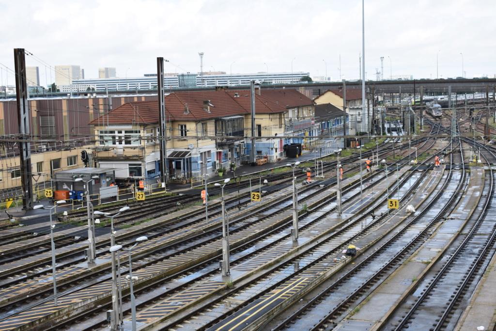 Le technicentre S.E Européen vu de la passerelle Valmy. Juille59