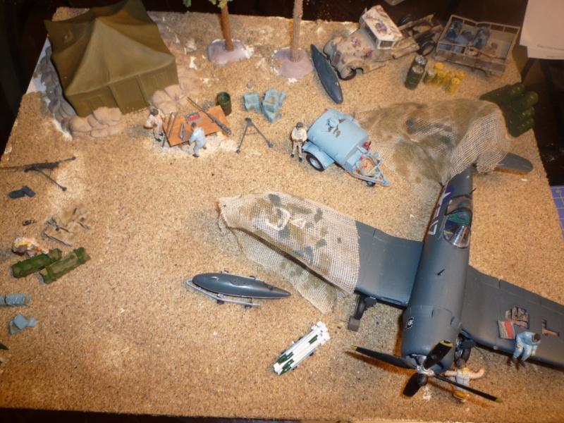 une  petite base US dans une ile du pacifique vers 1944  au1/48° Dioram36