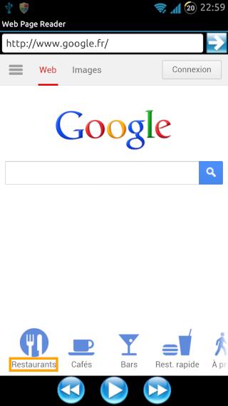 [SOFT] WEB PAGE READER : Navigateur Web avec synthèse vocale intégrée [Gratuit/Payant] Screen10