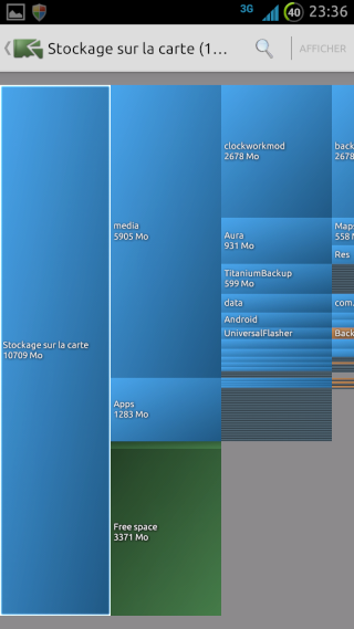 [SOFT] DISKUSAGE : Contrôler rapidement l'espace disque occupé par vos applications et fichiers [Gratuit] Screen14