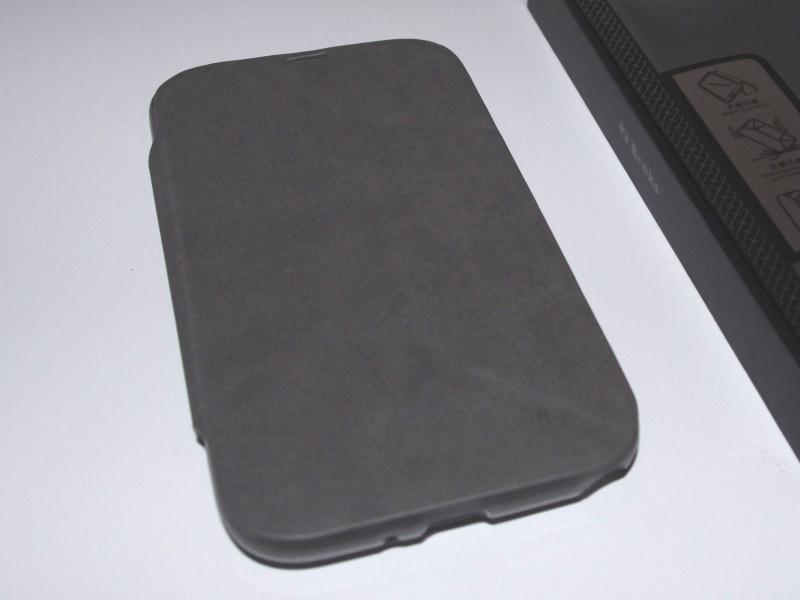 [ACCESSOIRE] Test Etui BENKS avec rabat pliable servant de support pour Samsung Galaxy Note 2  Z0210