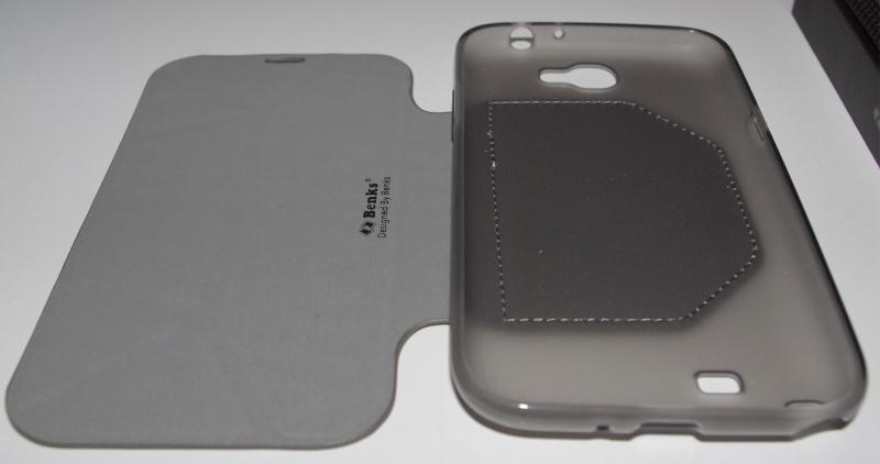 [ACCESSOIRE] Test Etui BENKS avec rabat pliable servant de support pour Samsung Galaxy Note 2  Z0410