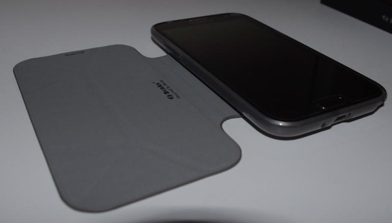 [ACCESSOIRE] Test Etui BENKS avec rabat pliable servant de support pour Samsung Galaxy Note 2  Z0610