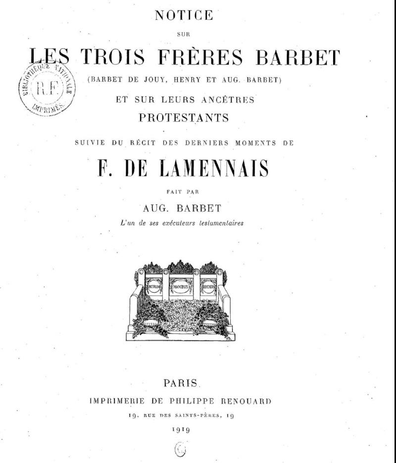 Notice sur les frères BARBET, huguenots en Pays de Caux Frares10
