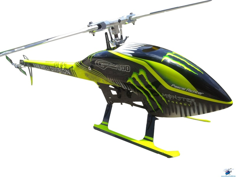 canopy et terrains de vol pour phoenix RC Goblin10