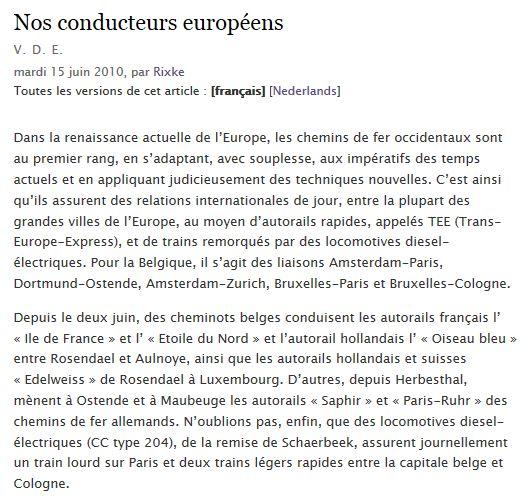 Nos conducteurs européens (juillet 1957) Europe10