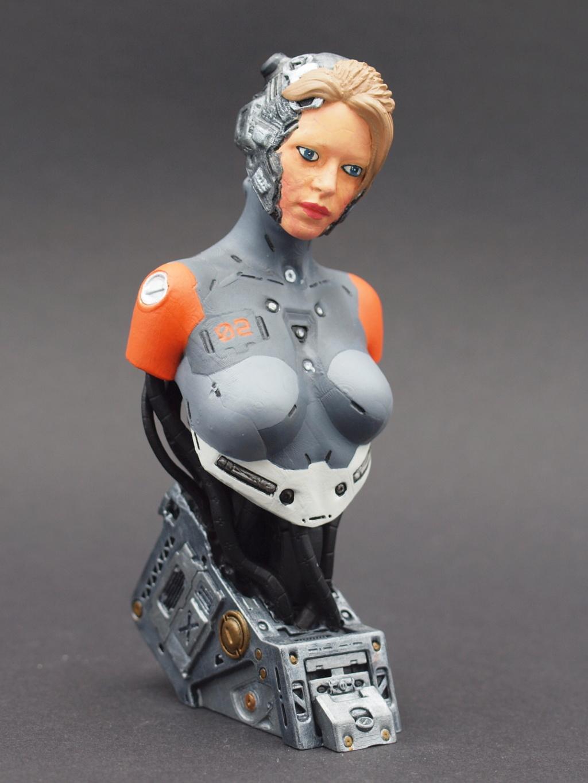 Cyborg - Büste  ca. 1:9 Female11