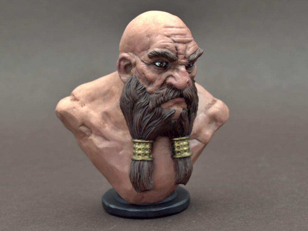 Dwarf Bust - Zwergenbüste - ca. 1:9 / 80 mm - 3D Druck Male_d15