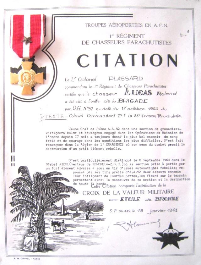 LUCAS Roland 1er RCP en Algérie brevet n°153.867 présentation de roland par serge 02110