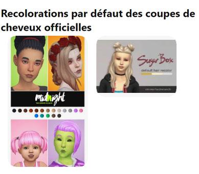 [Sims 4 - téléchargement CAS] Recolorations de cheveux - Replacements par défaut Reco10