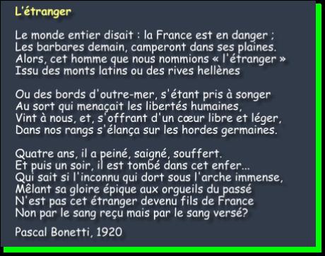 Français par le sang versé Fanion10