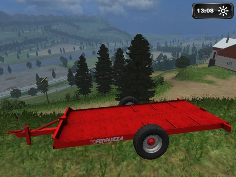 Ferruzza_PT60 Rimorchio agricolo monoasse trasporto cingoli  Lsscre26