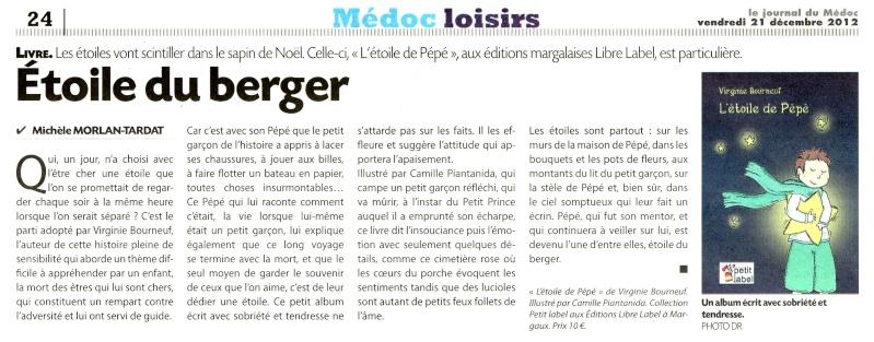 Album jeunesse : L'étoile de Pépé 12122110
