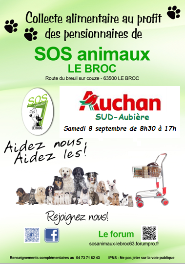 Très urgent collecte de croquettes Auchan Sud Aubière Auchan10