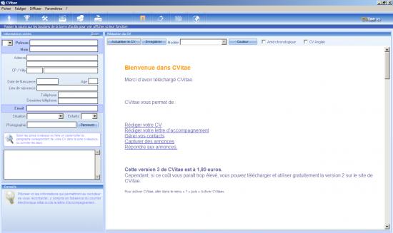 Télécharger CVitae logiciel d'une grande utilité pour les personnes en recherche d'emploi 15019810