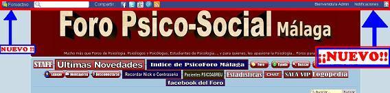 NOVEDAD EN FORO PSICO-SOCIAL MÁLAGA: ToolBar con un centro de notificación tipo FACEBOOK 01def11