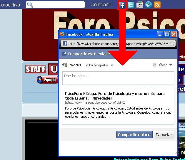 NOVEDAD EN FORO PSICO-SOCIAL MÁLAGA: ToolBar con un centro de notificación tipo FACEBOOK 03def10