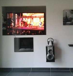 Vitre de meuble a ouverture electrique télecommandé en infra rouge Photo_12