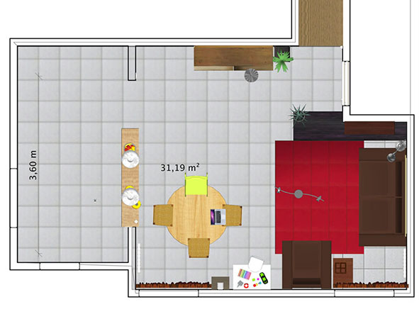 Salon à colorier Plan_c25