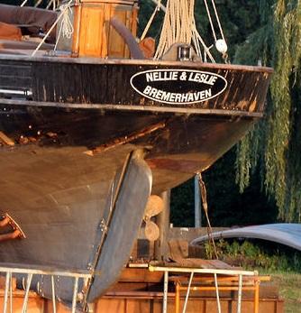Ein Segelboot selbst gebaut Nellie11